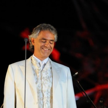 Andrea Bocelli performing in Lajatico